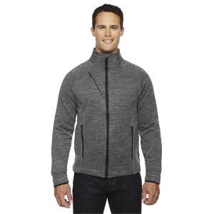 North End Men's Flux Mélange Bonded Fleece Jacket