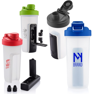 20 oz. Shaker Fitness Bottle with Bluetooth® Earbuds